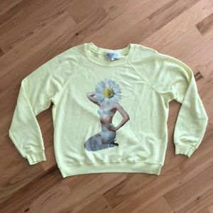 Wildfox daisy pin up sweater